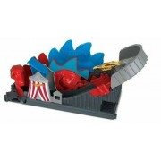 Hot Wheels How Wheels Pista Dinosauro Attacco alle Montagne Russe. Playset p...