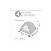 Barraca atena de acampamento para 4 pessoas 210x210x130cm guepardo