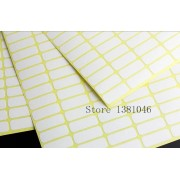 3 To 10 Sheets Plain Small White Sticky Labels Price Stickers Tags 8 x 20mm Blank Self Adhesive