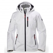 Helly Hansen Womens Crew Hooded Sailing Jacket White XS