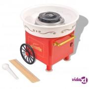 vidaXL Aparat za Šećernu Vunu s Kotačima 480 W Crveni