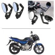 AutoStark 7/8 22cm Motorcycle Rear View Mirrors Handlebar Bar End Mirrors - Bajaj Pulsar
