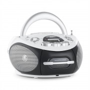 Majestic AH-2387 WH Gravador de Rádio Boombox CD MP3 USB FM