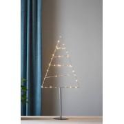 TRIANGLE dekorationsträd LED - mellan Silver