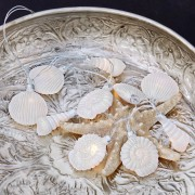 LOBERON Lichtketting White Shells / wit