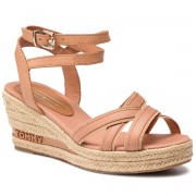 Espadrile TOMMY HILFIGER - Iconic Elba Tommy Pastel FW0FW04055 Silky Nude 297