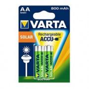 VARTA 2 piles rechargeables AA 800 mAh pour appareil solaire
