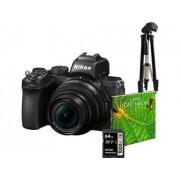 Nikon Kit Máquina Fotográfica Mirrorless Z50 + 16-50 VR + SD64GB + Tripé + Livro (21.5 MP - Sensor: APS-C - ISO: 100 a 51 200)