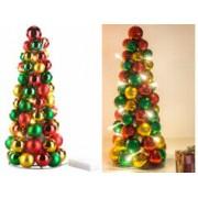 Britesta Pyramide de boules de Noël lumineuse
