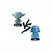 Funko Pop Set 2 Yoda Darth Vader Sith Vs Jedi Glow Exclusivo