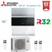 Mitsubishi Climatizzatore Condizionatore Mitsubishi Electric Trial Split Inverter Serie Msz-Ef Kirigamine Zen 7000+7000+12000 Con Mxz-3f54vf2 R-32 Disponibili In Vari Colori - New 2020 7+7+12