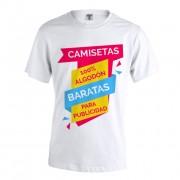 Camisetas publicidad baratas blancas Keya MC130