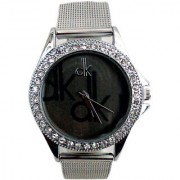 i DIVA'S Dk Silver Black Dial Analogue Watch for Girls and Women By Japan