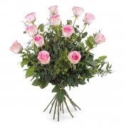 Interflora 12 Rosas Cor-de-Rosa de Pé Longo Interflora