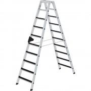 Guenzburger Stufen-Stehleiter CLIP-STEP beidseitig begehbar, geriffelt 2 x 10 Stufen