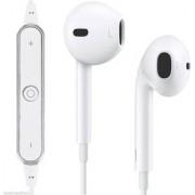 Kss Bluetooth In the Ear Headset Mini wireless Stereo Running Sports Headphone-(White/Black)