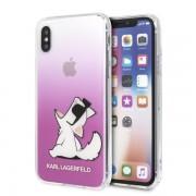 Karl Lagerfeld Choupette Fun iPhone tok (rózsaszín) - X/XS
