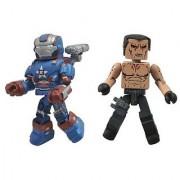 Diamond Select Toys Series 49 Marvel Minimates Iron Man 3: Iron Patriot and Extremis Action Figure
