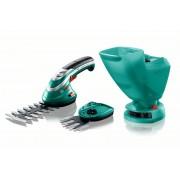 Bosch Isio акумулаторна ножица за трева, ножица за храсти и приставка за поръсване, 060083310N, BOSCH