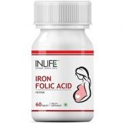 INLIFE Iron Folic Acid 60 Tablets For Prenatal Health Of Women