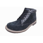 Port Men's Black Fabric Barnes Shoes For Men(Black)