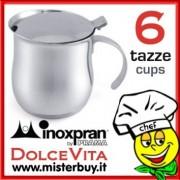CAFFETTIERA SERVIRE INOX 6 TAZZE DOLCEVITA INOXPRAN
