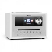 Auna Silver Star CD Cube Radio Bluetooth HCC écran bois blanche