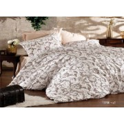 Lenjerie de pat matrimonial cu husa de perna dreptunghiulara Nostalgia bumbac satinat gramaj tesatura 120 g/mp multicolor