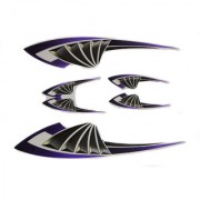 Spidy Moto Scooter Sticker Purple Graphics Accessories Universal for All Scooty (Set of 5 Pc)