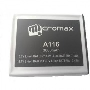 100 Original Micromax Battery A116 3000mah For Micromax Canvas 3dhd4