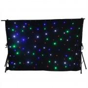 Beamz SparkleWall, LED függöny, 96 RGBW LED dióda, 3 x 2 m, controllel távirányító mellékelve (Sky-151.200)