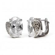 Venus Swarovski kristályos fülbevaló - Áttetsző