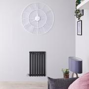 Hudson Reed Radiateur design électrique horizontal - Anthracite - 63,5 cm x 42 cm x 5,4 cm - Sloane