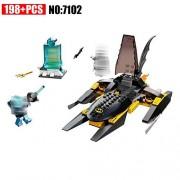 Generic 7102 Super Heroes Batman Model Building Blocks Batman War Chariot VS Mr.Freeze Toys Boy Compatible 76000 Kid Batman Gift Set