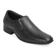Red Chief Black Low Ankle Leather Slip On Shoe (RC3544 001)