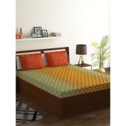 Bombay Dyeing Yellow 100% Cotton Breeze Double Bed Sheet