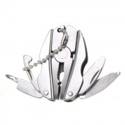 Al aire libre multifuncional herramienta mini alicates plegables - plata