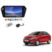 7 Inch Full HD Bluetooth LED Video Monitor Screen with USB Bluetooth + 8 LED Reverse Parking Camera For Tata Zest