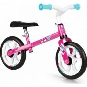 Bicicleta fara pedale Smoby, First bike, roz