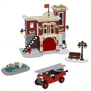 Generic Lepin 36014 Christmas Gifts The 10263 Winter Village Fire Station Set Building Blocks Bricks Assembly Kids Toys Birthday Gifts 1306Pcs