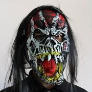 Dwayne C 1PCS Halloween Horror Mask Novelty Rubber Latex Horror Spooky Head Masks Cosplay Masquerade Carnival Costume