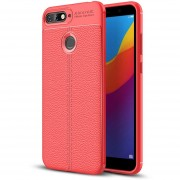 Para Huawei Honor 7a / Y6 (2018) Litchi Texture Soft TPU Protector Caso (rojo)