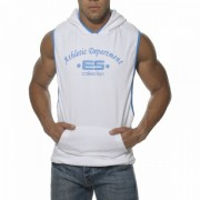 ES Collection Sleeveless Towel Hoody Sweater White/Surf SP016