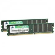 Memorie Corsair 2GB (2x1GB) DDR PC-3200 CL3 400MHz Dual Channel Kit, VS2GBKIT400C3