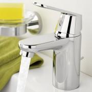 Baterie lavoar Grohe Eurosmart Cosmopolitan, monocomanda, 1/2'', cartus ceramic, limitator de temperatura, set evacurare cu tija, aerator, marimea S, Crom -32825000