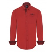 Giorgio Di Mare Worked Long Sleeved Shirt Red GI8407150