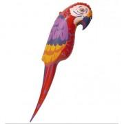 Merkloos Opblaas papegaai 120 cm