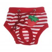 Perro Mascota Pantalones De Higiene-rojo