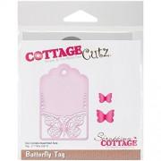 "CottageCutz Die-Butterfly Tag, 2.1""""X3.9"""""
