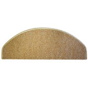 Béžový kobercový půlkruhový nášlap na schody Barcelona - délka 28 cm a šířka 65 cm